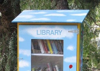 PHOTO- A Little Free Library in Hurstbridge on Melbourne's fringe. (User submitted- Louise Micallef)