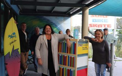 Street Library Installed at Anna Bay Surf Bike and Skate