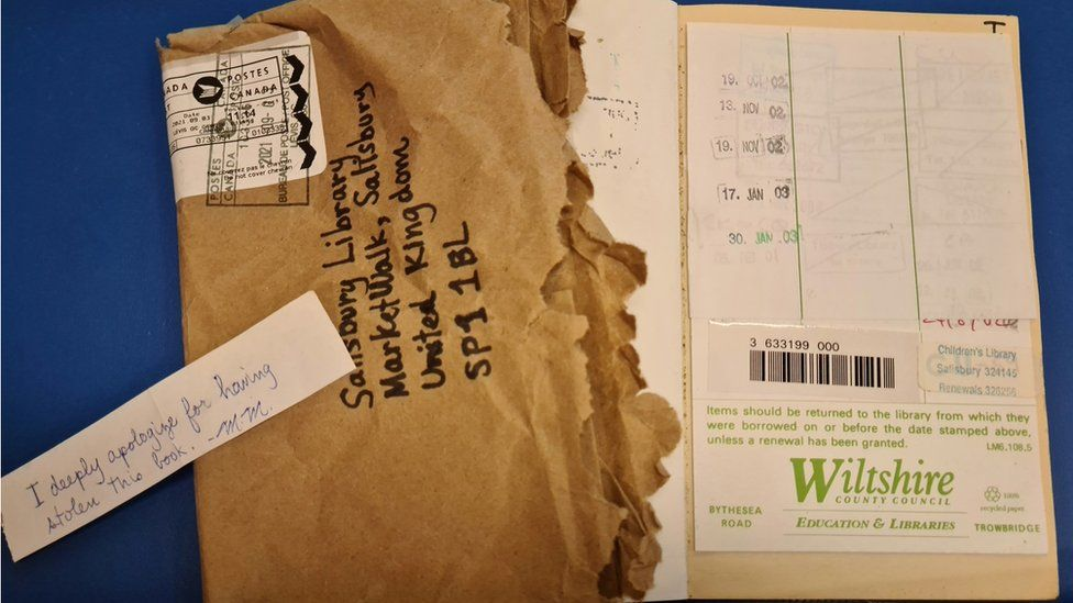 Library book returned to UK from Canada 18 years late